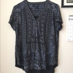 Lucky Brand Large Blue Top